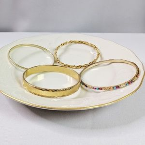 Jewelry - 🌜3 for $25🌙 4 Gold Tone Classic Bangles